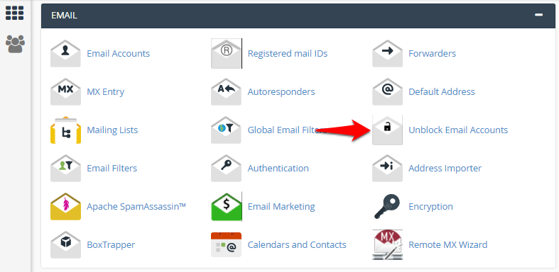 Unblocking Email Accounts in cPanel | KnowledgeBase